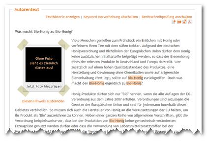 Fotolia-Integration content.de
