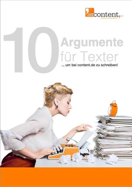 10 Argumente für Texter
