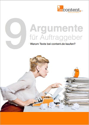 9 Argumente für Auftraggeber