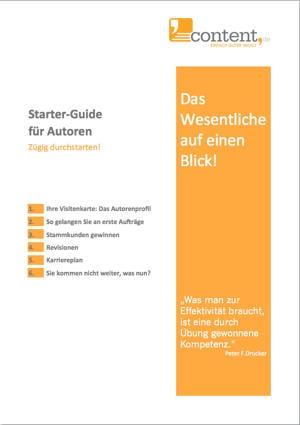 Starter-Guide für Texter: Der Schnelleinstieg auf content.de