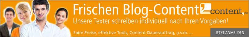 Blog-Content über content.de schreiben lassen.