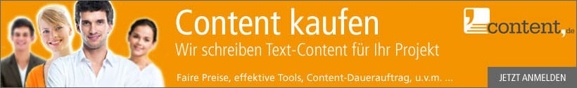Content kaufen, schnell und unkompliziert über content.de
