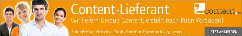 Content Optimierung über content.de