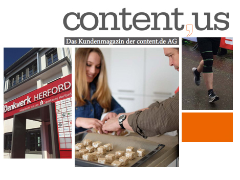 Die erste Ausgabe des content.de-Kundenmagazins