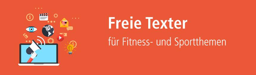Texter für Fitness- und Sportthemen finden