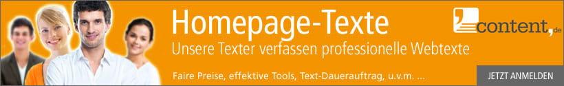 Homepage-Texte über content.de schreiben lassen