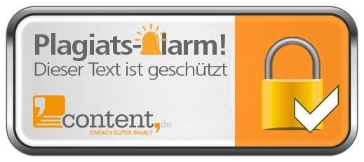 Plagiatsalarm von content.de - Die Alarmanlage für Webtexte!