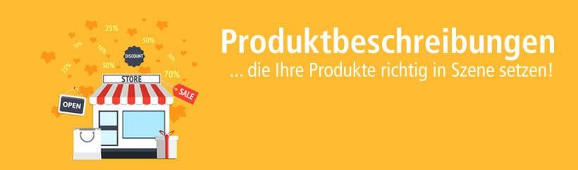 Produktbeschreibungen schreiben lassen