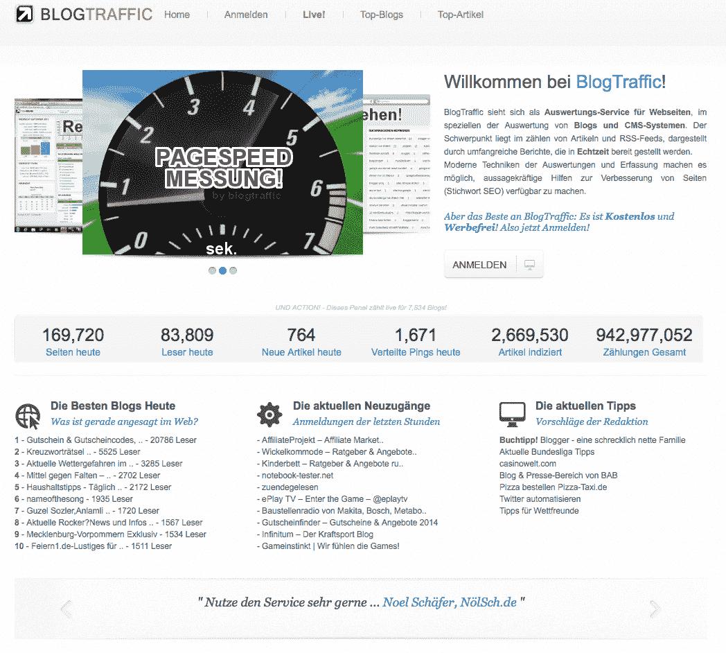 Wertvolle Erkenntnisse zum Erfolg von Blogartikeln aus Auswertungssystem von Blogtraffic.de ziehen.