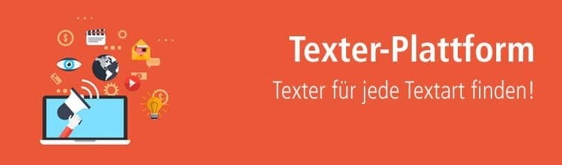 Texter über Texterplattform finden und beauftragen.