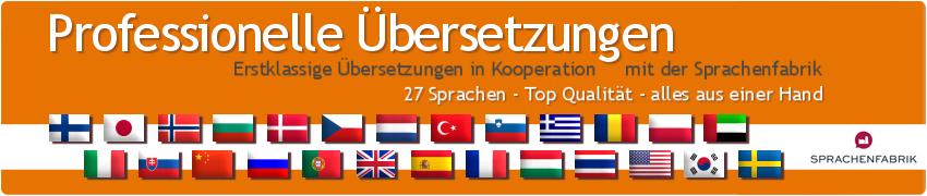 Übersetzungen in 27 Sprachen