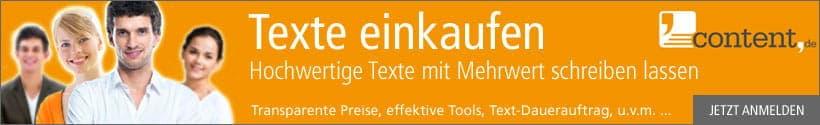 Texte kaufen über content.de