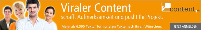 Viralen Content bei content.de erstellen lassen!