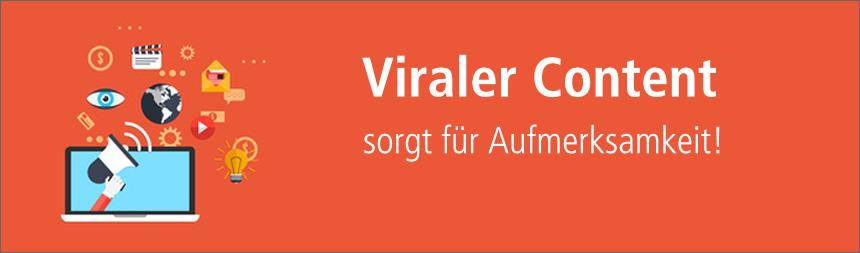 Viraler Content sorgt für Aufmerksamkeit - content.de